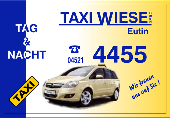 Flyer Taxi Wiese - Ihr Taxiruf in Eutin